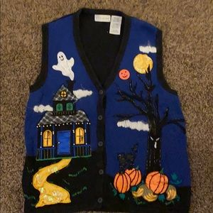 White Stag Halloween Sweater Vest